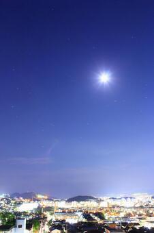 Night sky moon