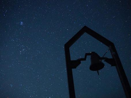 Starry sky and bells