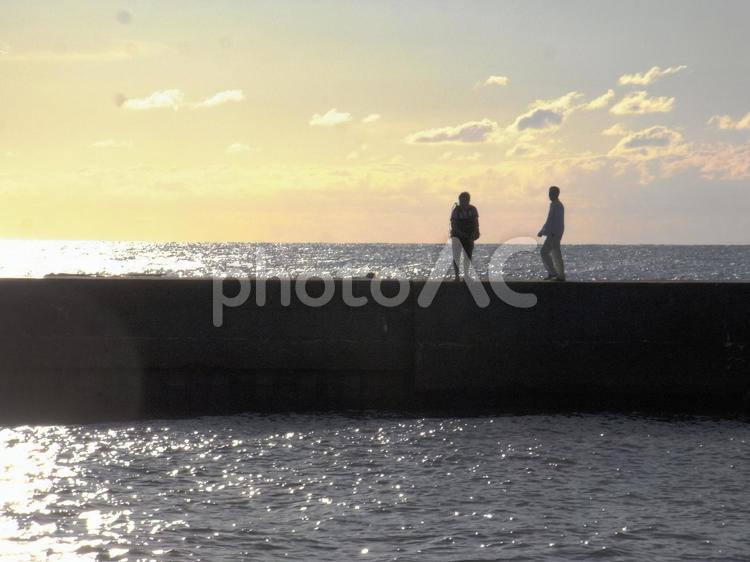 海釣りの写真