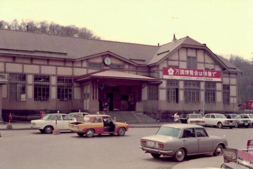 1965 년대의 아바시리 역 구 역사 (1970 년경)