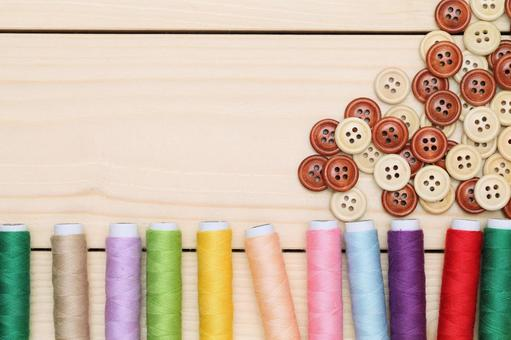 Thread winding and button