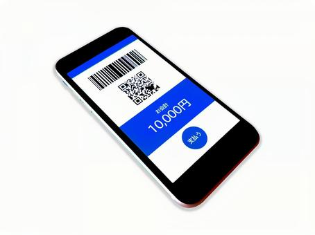 Cashless payment / Contactless payment / Electronic money payment / qr code payment / Bar code payment / Mobile / Smartphone / Accessories / Miscellaneous goods / Blue