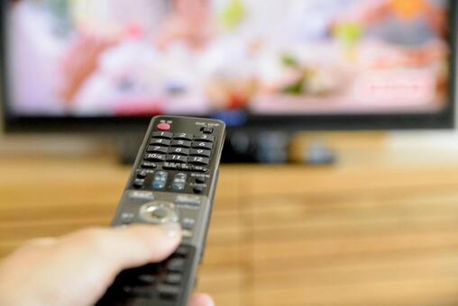 TV와 리모컨, 집 시간 이미지
