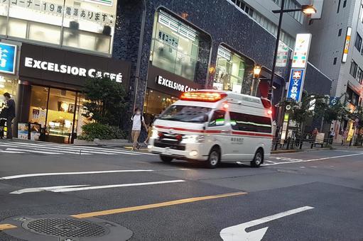 Ambulance running
