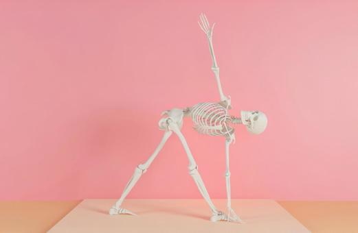 Skeleton J who decides yoga pose