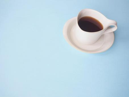 Coffee light blue background