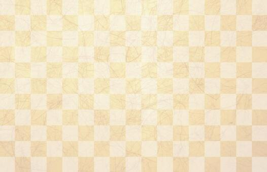 Checkered orange japanese paper texture background material
