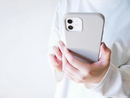 Women searching on smartphones