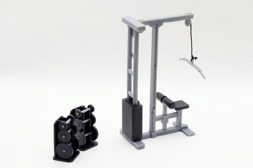 Image of training equipment and muscle training