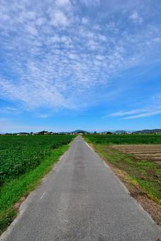 Scales of clouds and one road 122