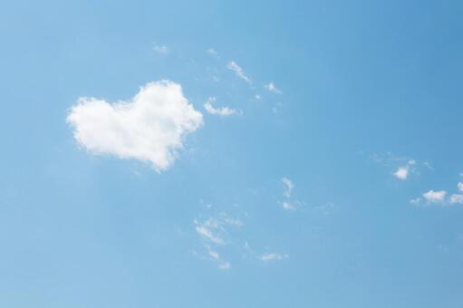Blue sky and a little heart cloud