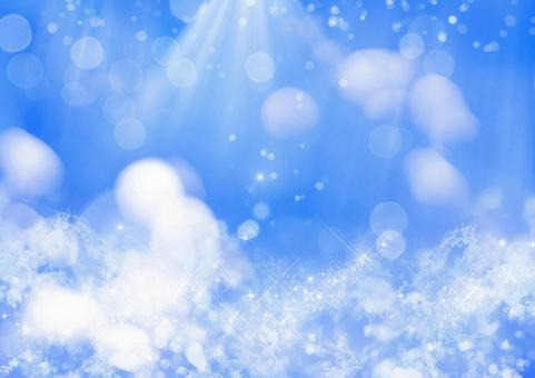 Snow crystal and glitter background