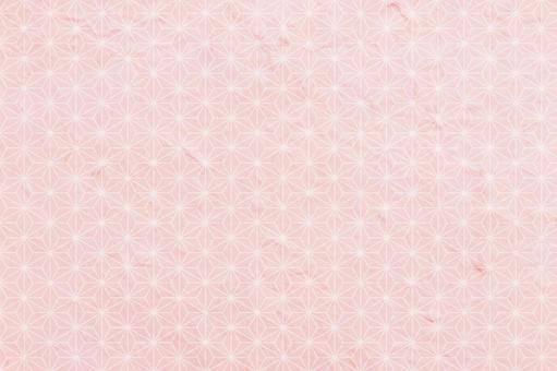 Hemp leaf Japanese pattern Japanese paper - Sakura color