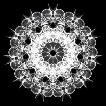 Ornament pattern 099 monochrome