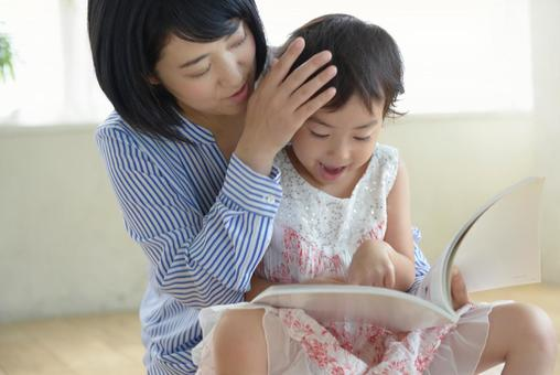 Mother and child reading 10