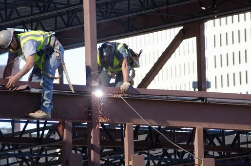 Worker performing construction work 1