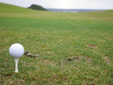 Golf course tee-up