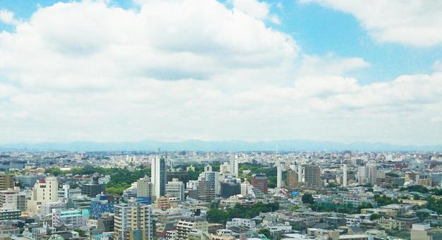 Tokyo town and sky