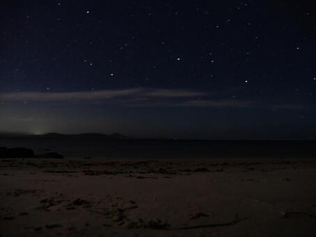 Starry sky taken with long exposure