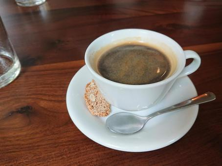 Hot coffee and biscotti