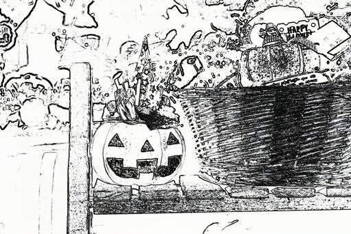 Halloween pumpkin 11 drawing