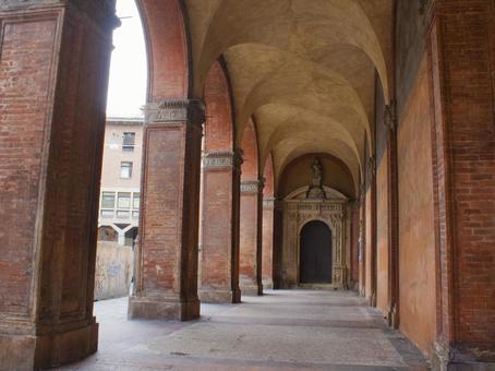 Bologna brick corridor