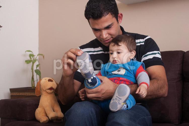 赤ちゃんとお父さん10の写真