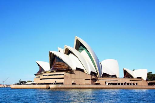 Opera house in fine weather