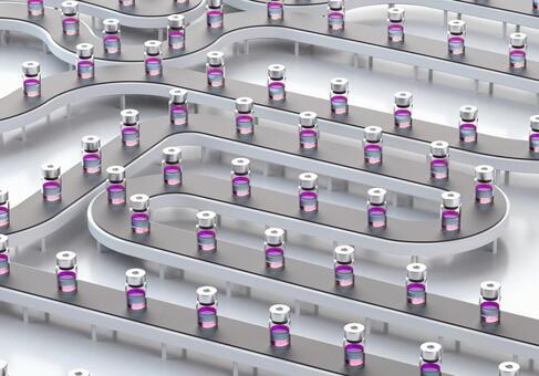 Vaccine production line image