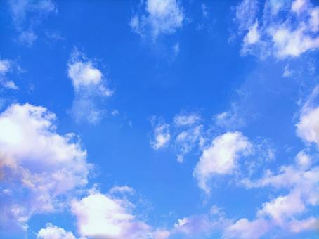 Sky and clouds (background material) 11