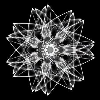 Mandala 077 Monochrome