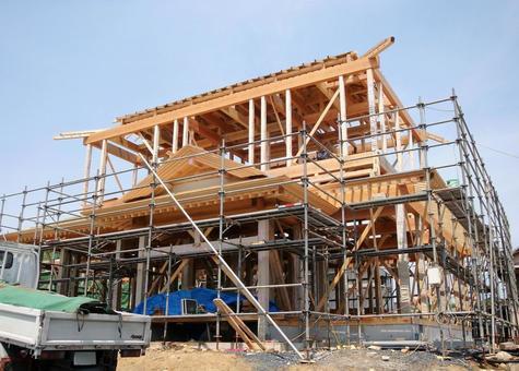 목조 주택 건설 현장 3