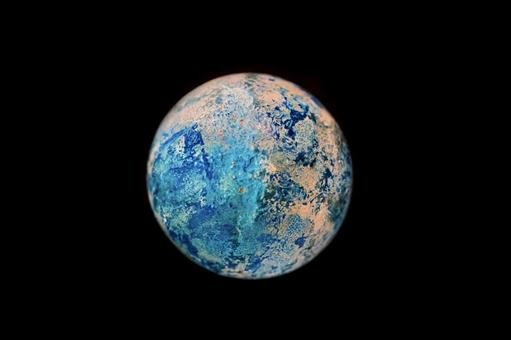 Image of the earth / center up