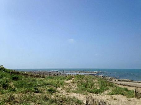 대만 담수의 모래 사장