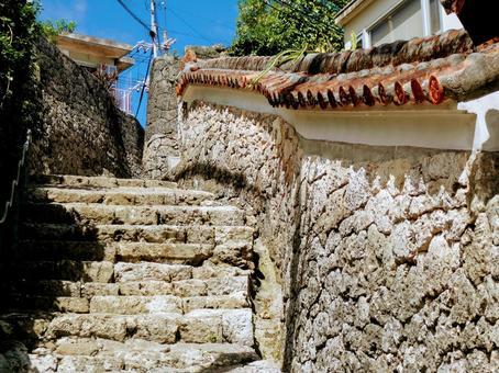 Okinawa Material_Shuri Cobblestone Stairs