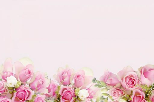 Rose flower frame Rose and freesia bouquet background image