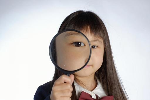 Girl with loupe 2