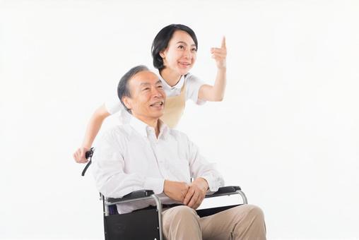 Men and nurses on a wheelchair 34