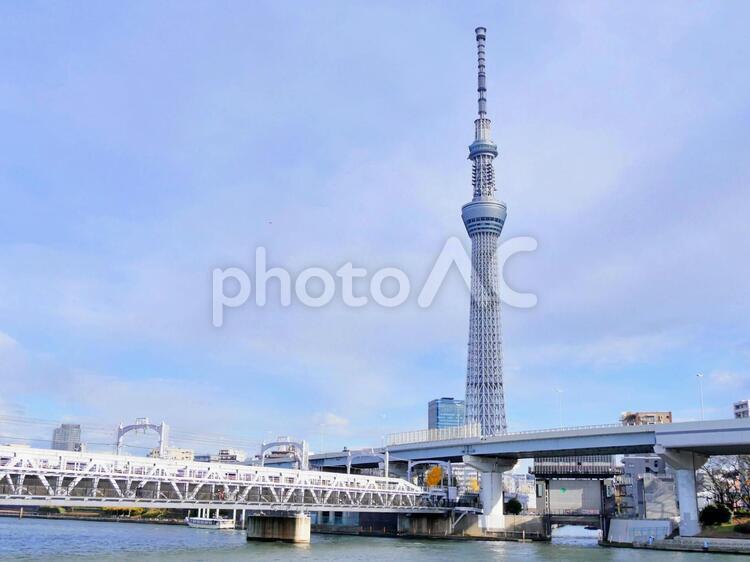 東京スカイツリー5 隅田川橋梁の写真