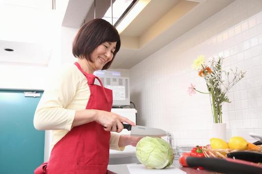 高級女子6做飯