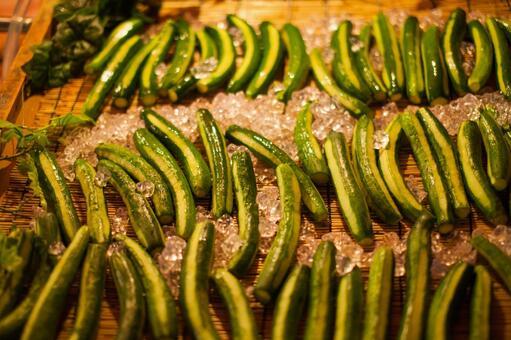 Summer festival stall cucumber
