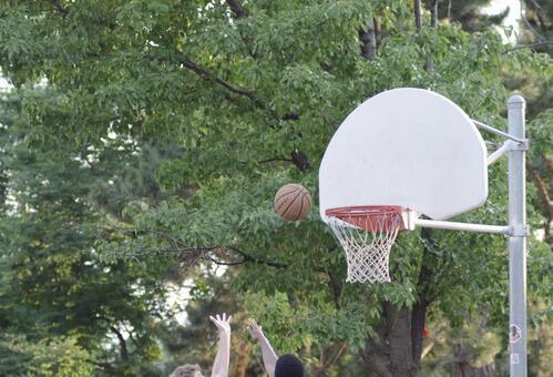 Landscape playing basketball 3