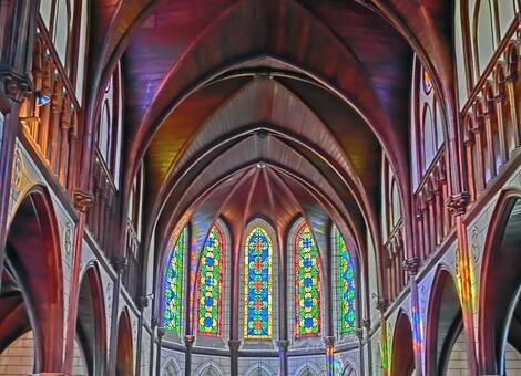 Bright church stained