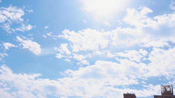 Dazzling sky sunshine