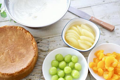 과일 케익 장식