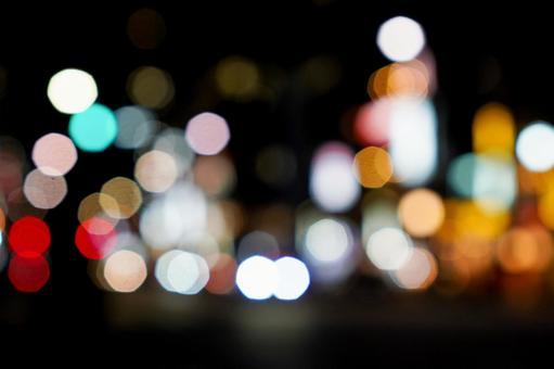도쿄의 야경 구슬 노망