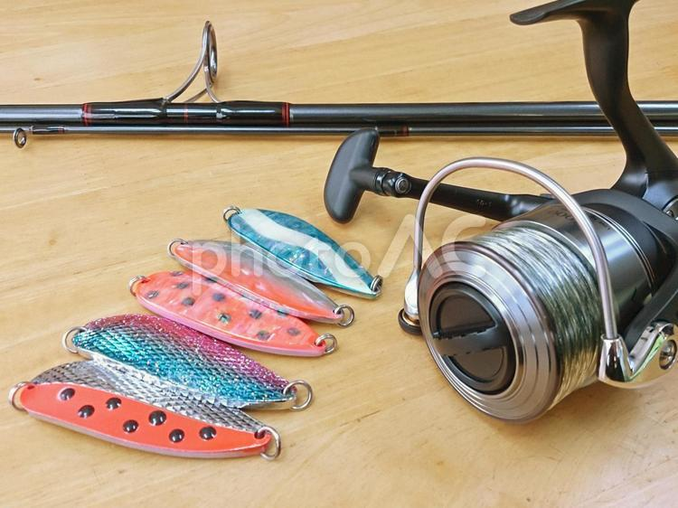 サケ釣り用タックルの写真