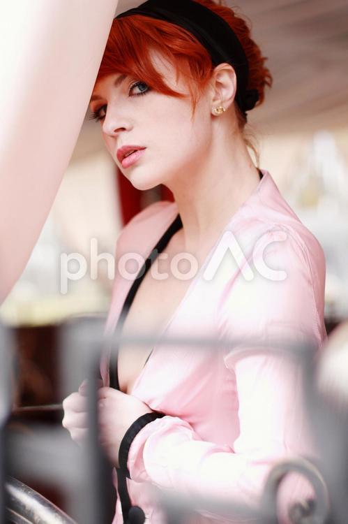 色気のある外国人女性モデル写真4の写真