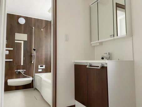 Simple bathroom and wash basin