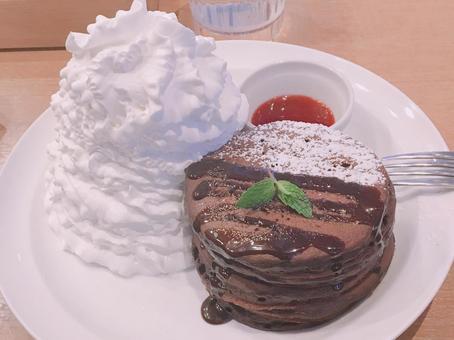 초콜릿 팬케이크